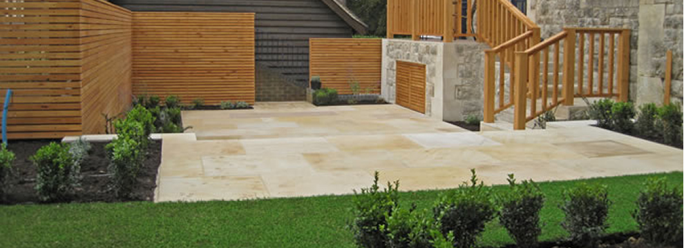 Driveways paving and paths for commercial and residential for Gardens with decking and paving