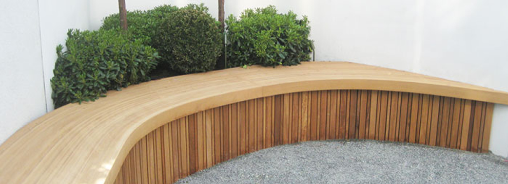 Bespoke garden seating in Suffolk Essex Cambridgeshire London